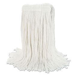 "Boardwalk Banded Rayon Cut-End Mop Heads, White, 24 oz, 1 1/4"" Headband, 12/Carton"