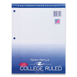 Roaring Spring Paper Notebook Filler Paper, 3-Hole, 8.5 x 11, College Rule, 100/Pack