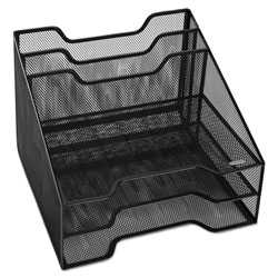 Rolodex Mesh Tray Sorter Combo, 5 Sections, Letter Size Files, 12.5 in x 11.5 in x 9.5 in, Black