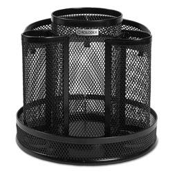 Rolodex Wire Mesh Spinning Desk Sorter, Black