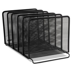 Rolodex Mesh Stacking Sorter, 5 Sections, Letter to Legal Size Files, 8.25 in x 14.38 in x 7.88 in, Black