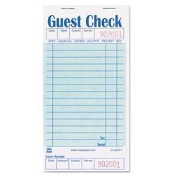 Royal   Guest Check Book, 3 1/2 x 6 7/10, 50/Book, 50 Books/Carton