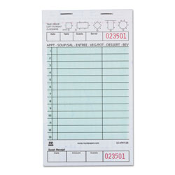 Royal   Guest Check Book, Two-Part Carbonless, 4 1/5 in x 7 3/4 in, 1/Pages, 2000 Forms