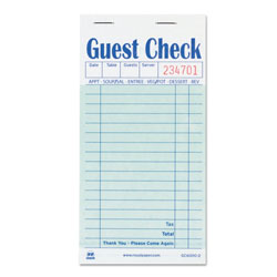 Royal   Guest Check Book, Carbon Duplicate, 3 1/2 x 6 7/10, 50/Book, 50 Books/Carton