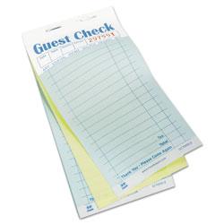 Royal   Guest Check Book, Carbonless Duplicate, 3 2/5 x 6 7/10, 50/Book, 50 Books/Carton