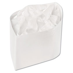 Royal   Classy Cap, Crepe Paper, White, Adjustable, One Size, 100 Caps/Pk, 10 Pks/Carton
