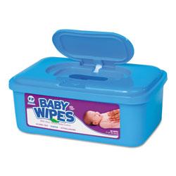 Royal   Baby Wipes Tub, Scented, White, 80/Tub, 12 Tubs/Carton