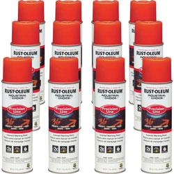 Rust-Oleum Marking Paint Spray, Water-Based, 17 oz, 12/CT, Alert OE