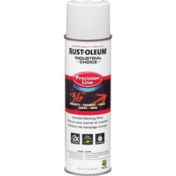 Rust-Oleum Marking Paint, 17 oz., Water-based, 12/CT, White