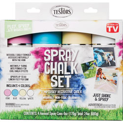 Rust-Oleum Spray Chalk Set, 4-Color Kit, 6 oz. Cans, Assorted