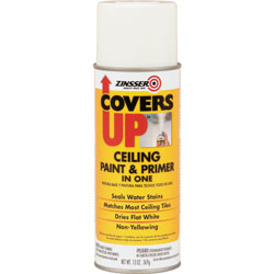 Rust-Oleum Ceiling Covers Up, Paint/Primer, Vertical Spray, 13 oz., White