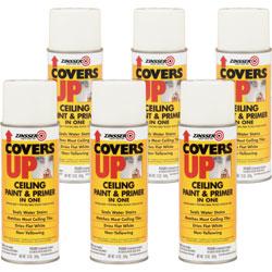 Rust-Oleum Ceiling Paint/Primer, Vertical Spray, 13 oz, 6/CT, WE