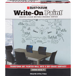 Rust-Oleum Write-On Paint, Writable/Erasable Surface, 100 sq. ft.