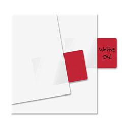 Redi-Tag/B. Thomas Enterprises Semi Transparent Standard Rectangular Page Flags, 1 11/16 x 1, Red, 50/Pack