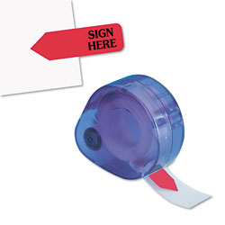 Redi-Tag/B. Thomas Enterprises Arrow Message Page Flags in Dispenser,  inSign Here in, Red, 120 Flags/ Dispenser
