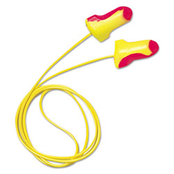 R3 Safety LL-30 Laser Lite Single-Use Earplugs, Corded, 32NRR, Magenta/Yellow, 100 Pairs