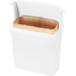 "Rubbermaid 614000 Compact Sanitary Napkin Receptacle,12 1/2""x5 1/4""x10 3/4"""