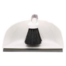 Rubbermaid Duster Brush w/Plastic Dustpan, White