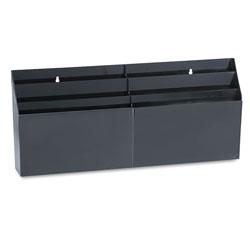 Rubbermaid Optimizers Six-Pocket Organizer, 26 21/32 in x 3 4/5 in x 11 9/16 in, Black