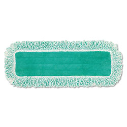 Rubbermaid Dust Pad with Fringe, Microfiber, 18 in Long, Green