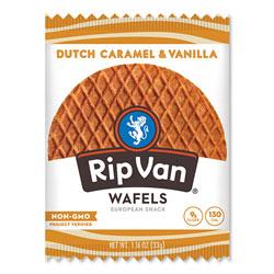 Rip Van® Wafels - Single Serve, Dutch Caramel and Vanilla, 1.16 oz Pack, 12/Box