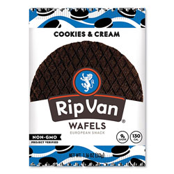Rip Van® Wafels - Single Serve, Cookies and Cream, 1.16 oz Pack, 12/Box