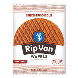Rip Van® Wafels - Single Serve, Snickerdoodle, 1.16 oz Pack, 12/Box