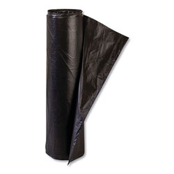 "Inteplast High Density Black Trash Bags, 45 Gallon, 14 Micron, 40"" X 48"", Case of 250"
