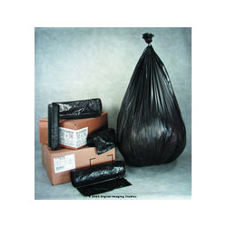 "Inteplast High Density Black Trash Bags, 56 Gallon, 17 Micron, 43"" X 48"", Case of 200"