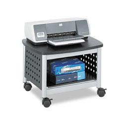 Safco Scoot Printer Stand, 20.25w x 16.5d x 14.5h, Black/Silver