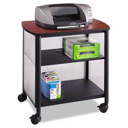 Safco Impromptu Machine Stand, One-Shelf, 26.25w x 21d x 26.5h, Black/Cherry