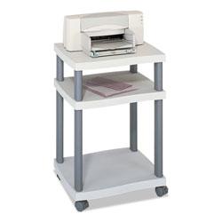 Safco Wave Design Printer Stand, Three-Shelf, 20w x 17.5d x 29.25h, Charcoal Gray