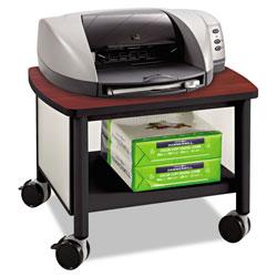 Safco Impromptu Under Table Printer Stand, 20.5w x 16.5d x 14.5h, Black/Cherry