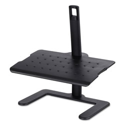 Safco Height-Adjustable Footrest, 20.5w x 14.5d x 3.5 to 21.5h, Black