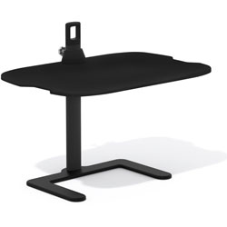 Safco Laptop Stand, 15 in Height Adjustable Range, 27 in x 18 in x 21-1/2 in, Black