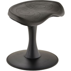 Safco Stool, Active Seating, 300 lb. Cap, 14 inH, Black