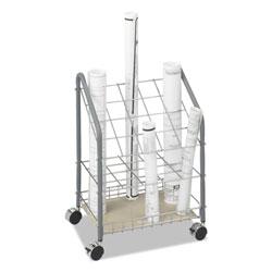 Safco Wire Roll/Files, 20 Compartments, 18w x 12.75d x 24.5h, Gray