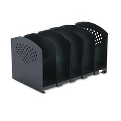 Safco Five-Section Adjustable Book Rack, Steel, 15 1/4 x 9 x 9 1/4, Black