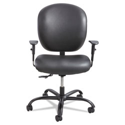 Safco Alday Intensive-Use Chair, Supports up to 500 lbs., Black Seat/Black Back, Black Base