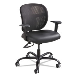 Safco Vue Intensive-Use Mesh Task Chair, Supports up to 500 lbs., Black Seat/Black Back, Black Base