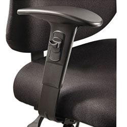 Safco Height/Width-Adjustable T-Pad Arms for Alday 24/7 Task Chair, 3.5w x 10.5d x 14h, Black, 1 Pair