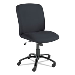 Safco Uber Big and Tall Series High Back Chair, Supports up to 500 lbs., Black Seat/Black Back, Black Base