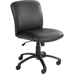 Safco Mid Back Swivel Task Chair, Black