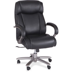 Safco Big & Tall Chair,500 lb. Cap, 29 in x 31 in x 44-3/4 in-48-1/2 in, Black