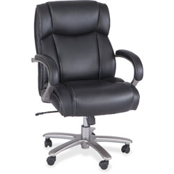 Safco Big & Tall Chair,400 lb. Cap, 24-1/2 in x 30-3/4 in x 42 in-46 in, Black