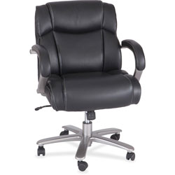 Safco Big & Tall Chair, 350 lb. Cap, 24-1/2 in x 25-1/2 in x 35 in-39 in, Black