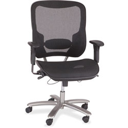 Safco Mesh Chair,400 lb. Cap, 29-1/4 in x 29-3/4 in x 41-1/4 in-45 in, Black