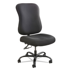Safco Optimus High Back Big and Tall Chair, Fabric Upholstery, Supports up to 400 lbs., Black Seat/Black Back, Black Base