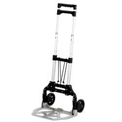 Safco Stow and Go Cart, 110 lb Capacity, 15.25 x 16 x 39, Aluminum