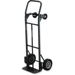 """Safco Convertible Hand Truck, 8"""" Rubber Wheels, 18-1/2""""x12""""x52"""""""